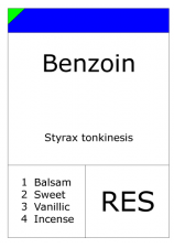 Benzoin Resinoid (Mobile)