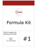 Formula Kit #1