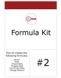 Formula Kit #2