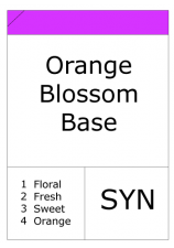 Orange Blossom base