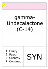 Gamma undecalactone (aldehyde C14 so called)